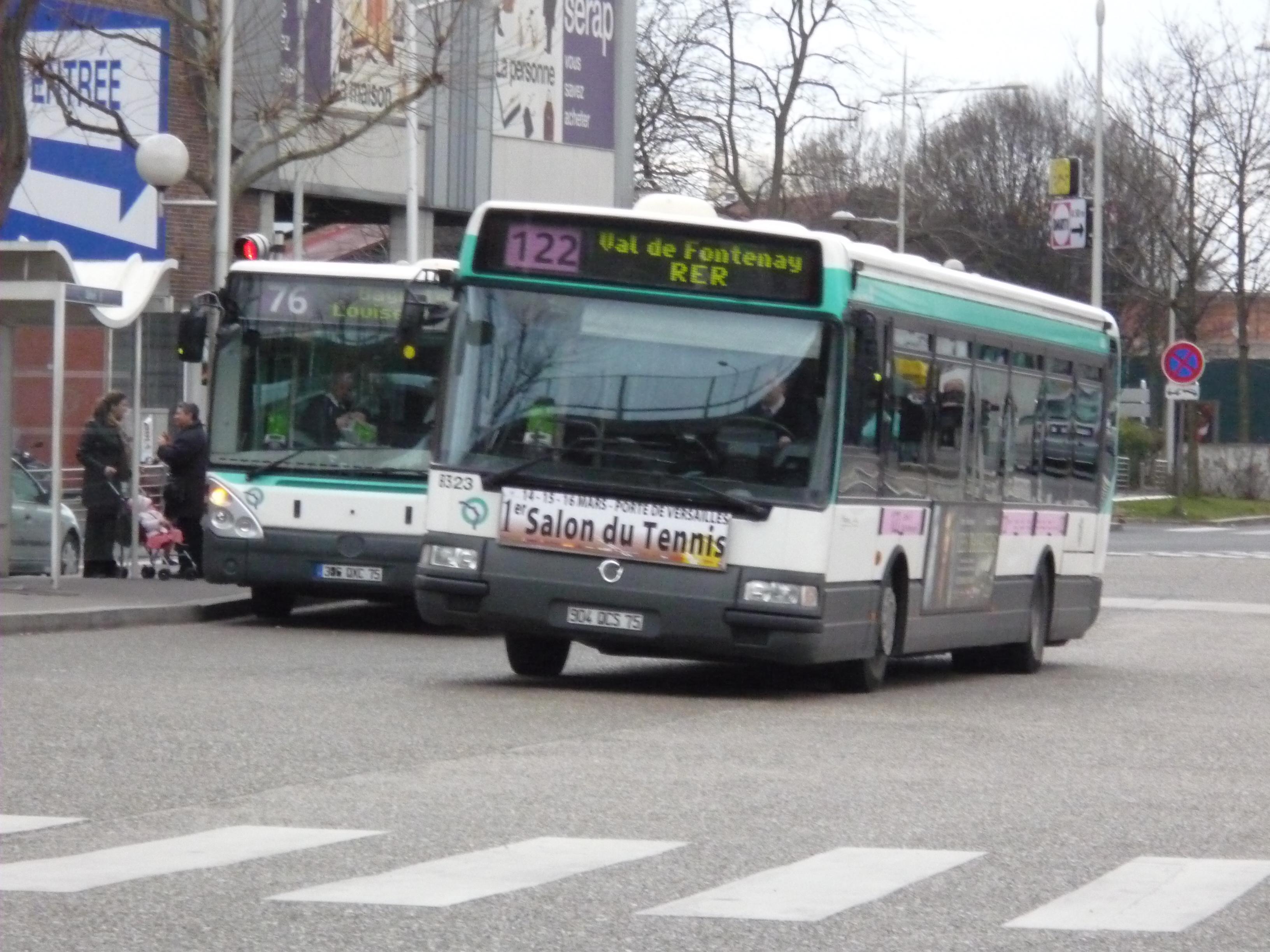 Galerie de la ligne 122 bus de france - Ligne 118 bus ...